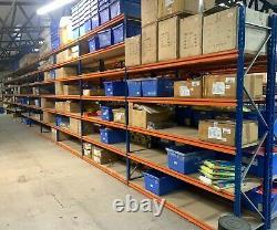 10 Bay Used STOW Heavy Duty Longspan Warehouse Storage Shelving Racking 3M Tall
