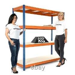 10 x 4 Tier Racking/Garage Shelving Unit/Metal Racking Heavy Duty Steel