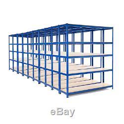 10 x Heavy Duty Steel Shelving Units Metal Garage/Shed Storage Racking 275kg UDL
