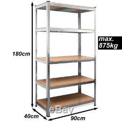 10x Industrial Shelving Unit 875kg Heavy Duty Rack Shelf Steel Garage Storage UK