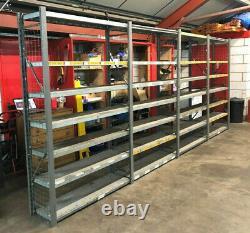 1200 x 400 x 2000 Heavy Duty Metal Garage Warehouse Shelving Racking 35 Uprights