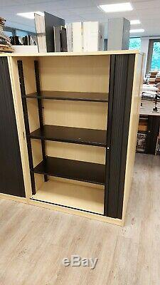 15 Heavy Duty Office Storage Shelving Units Filing Cabinets Tambour Sliding Door