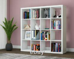 16 Cube Bookshelf Unit Display Storage Bookcase Shelves Holder Home Office White