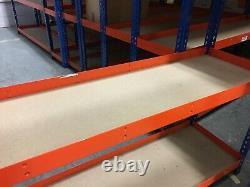 16 x Industrial Grade Racking Heavy Duty Shelving 4 levels