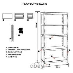 (1800 x 900 x 400)mm heavy-duty boltless metal steel shelving shelves storage