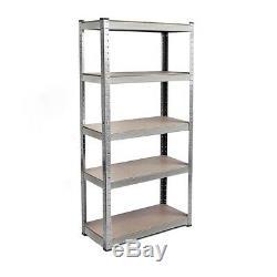 180cm Heavy Duty Metal Garage Shelving Racking Unit Storage Rack Boltless Shelf