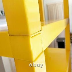 1970S Mid Century Modern Modular Shelving YELLOW Plastic Shelf Dorm Furniture