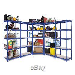 1 Corner Garage Racking/Shelving & 4 x 900mm Bays Metal Heavy Duty Shelving
