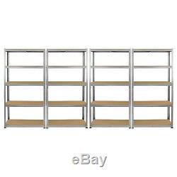 1 x Corner & 4 x 90cm Shelves Shelving Unit Racking Boltless Heavy Duty Storage