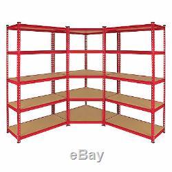 1 x Corner Racking Garage Storage 2 x 90cm Boltless Metal Heavy Duty Shelves