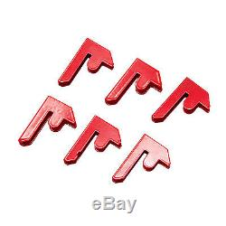 2.7M Heavy-Duty Steel Racking Shelving 3 Bays 5 Tiers Metal Shelves Garage Red