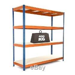 2 X Heavy Duty Garage Racking/Shelving 1800mm H x 1800mm W x 600mm D