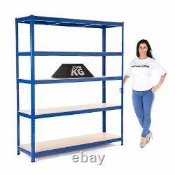 2 x Heavy Duty Garage Racking/Shelving 200kg UDL Per Shelf 1800mmx1500mmx450mm
