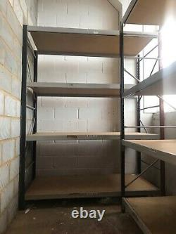 2 x Heavy duty industrial pallet shelving in good used condition