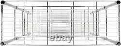 3/4/5 Tier Rack Heavy Duty Shelf Garage Unit Storage Chrome Steel Wire Shelving