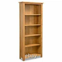 3/5/6 Tier Bookcase Bookshelf Solid Oak Wood CD-Display Shelving Unit Storage UK