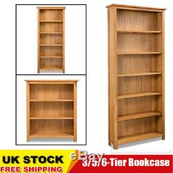 3/5/6-Tier Bookcase Home Book Shelf Cabinet Display Unit for Living Room Oak