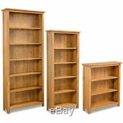 3/5/6 Tier Oak Bookcase Book Shelf Shelving Cabinet Display Unit Storage Corner