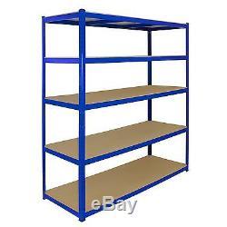 3 Garage Shelves Shelving 5 Tier Racking Boltless Heavy Duty Storage Shelf 160cm