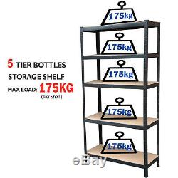 3 Pack Heavy Duty Garage Racking Storage Shelving Units Thicken Shelves 5 Tier
