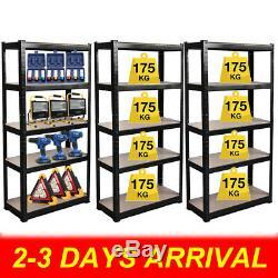 3 Racking Shelving Bays 5Tier Garage Unit Storage Racks Heavy Duty Steel Shelves