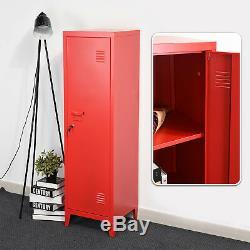 3 Tier Office Metal Locker Cabinet 137 cm Tall Industrial Storage Cupboard