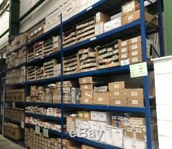 3 bays of heavy duty racking shelving with galvanised shelves