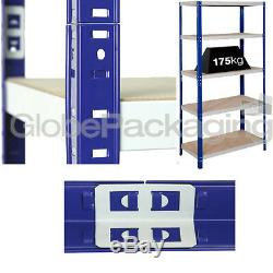 3 x BAYS OF HEAVY DUTY INDUSTRIAL SHELVING RACKING FOR WAREHOUSE GARAGE OFFICE
