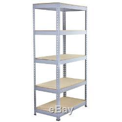 3 x Garage Shelves Shelving Unit Racking Boltless Heavy Duty Storage Shelf
