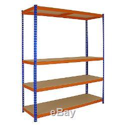3 x S-RAX Metal Shelving Heavy Duty Racking 4Tier 1.5m Wide Garage Storage Units