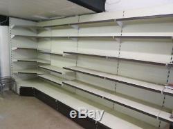 40Metre Arneg heavy duty shelving shop display double sided gondola wall racking