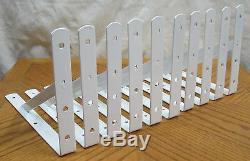 40 Heavy Duty White Steel 12 x 8 Shelf Brackets! 500 Lb Metal Lot L Countertop