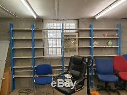 4 Bay Heavy Duty Garage Storage Racking/Shelving Unit/Metal Shelving