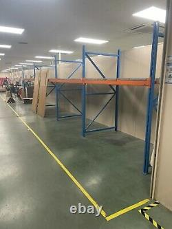 4 Bays Of heavy duty industrial racking, Shelving