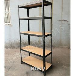 4 Garage Shed 5 Tier Racking Storage Shelving Units Boltless Heavy Duty Shelves