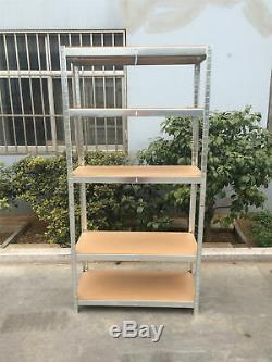 4 Garage Shelving Racking Bays 5Tier EXTRA HD Shelves Thicken Storage Shed Large