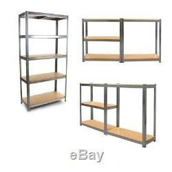 4 Garage Shelving Racking Bays 5 Tier EXTRA HD Racking Shelves Storage HeavyDuty