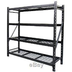 4 Shelf Industrial Storage Racking Heavy Duty Workshop Garage Shelving Bay Unit