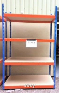 4 Tier Heavy Duty Steel Racking Garage Shelving Unit Storage Racks Blue & Orange