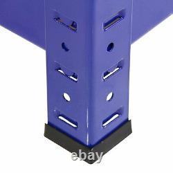 4 x Heavy Duty Steel Shelving Units 5 Tier Metal Garage/Storage Racks 275kg UDL