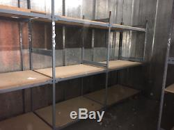 4 x Large Heavy Duty Industrial Storage Shelving Bays Racking see description
