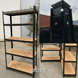4x Garage Shed 5 Tier Racking Storage Shelving Units Boltless No Bolts 180 Large