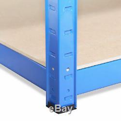 5Tier (180cm x 120cm x 60cm) Heavy Duty Metal Blue Shelving Rack Unit UKDC