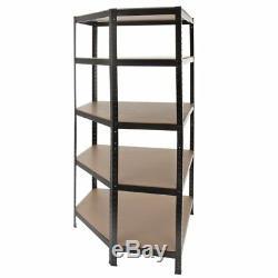 5 Shelf Boltless Shelving Display Unit Heavy Duty Storage Rack for Garage Sheds