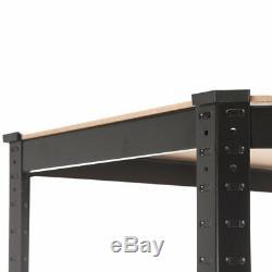 5 Shelf Heavy Duty Boltless Corner Shelving Unit Garage Shed Shop Display Rack