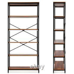 5 Tier Garage Shelves Shelving Unit Racking Boltless Heavy Duty Storage Bookcase