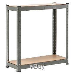 5 Tier Heavy-Duty Boltless Racking Shelving Storage Garage Shelves Grey