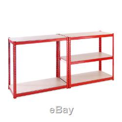 5 Tier Red Garage Shed Metal Heavy Duty Shelving Racking Storage 180 x 90 x 45cm