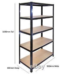 5 Tier Storage Rack Heavy Duty Display Shelving 1800x900x400 Shelf Display Rack