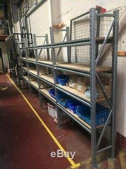 5 x bays Apex heavy duty longspan shelving 2350 x 1200 x 400 900kg per level